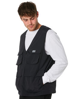 BLACK MENS CLOTHING OBEY JACKETS - 121810007BLK