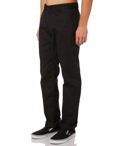BLACK MENS CLOTHING BRIXTON PANTS - 316-04064-0100BLK