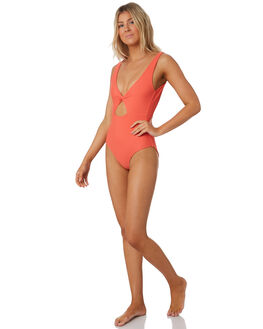 HOT CORAL WOMENS SWIMWEAR SAINT HELENA ONE PIECES - 19SW603AHTCRL