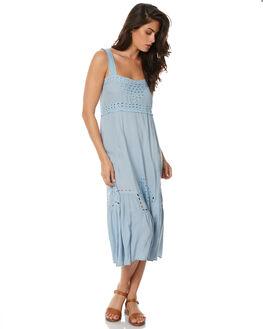 DUSTY BLUE WOMENS CLOTHING AUGUSTE DRESSES - AMG2-17636DBLU