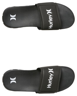 BLACK MENS FOOTWEAR HURLEY SLIDES - 924749010