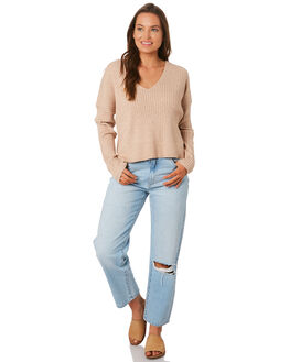 STONE WOMENS CLOTHING NUDE LUCY KNITS + CARDIGANS - NU23613STONE