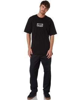 BLACK MENS CLOTHING OBEY PANTS - 142020131BLK
