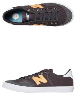 GREY YELLOW MENS FOOTWEAR NEW BALANCE SKATE SHOES - NM212GYB033