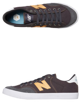 GREY YELLOW MENS FOOTWEAR NEW BALANCE SKATE SHOES - NM212GYB033