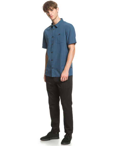 MAJOLICA BLUE MENS CLOTHING QUIKSILVER SHIRTS - EQYWT03979-BSM0