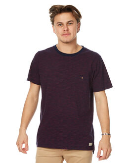 NAVY RED MENS CLOTHING ACADEMY BRAND TEES - 18S490NVYR