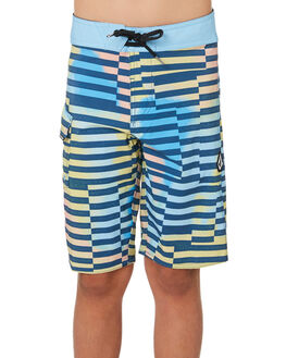 SMOKEY BLUE KIDS BOYS VOLCOM BOARDSHORTS - C0841907SMB