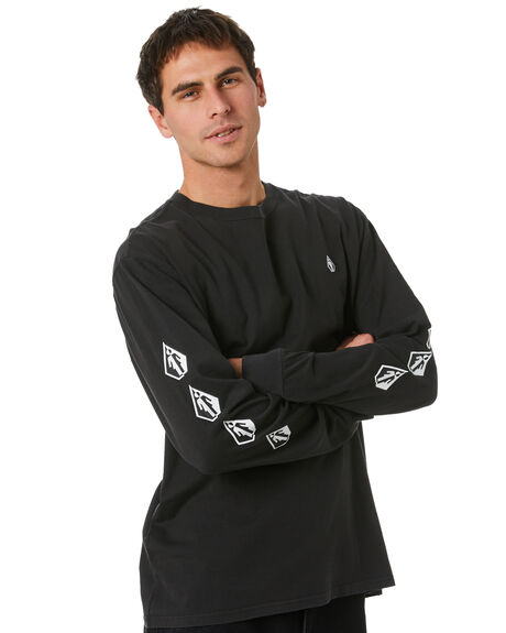 BLACK MENS CLOTHING VOLCOM TEES - A3632004BLK