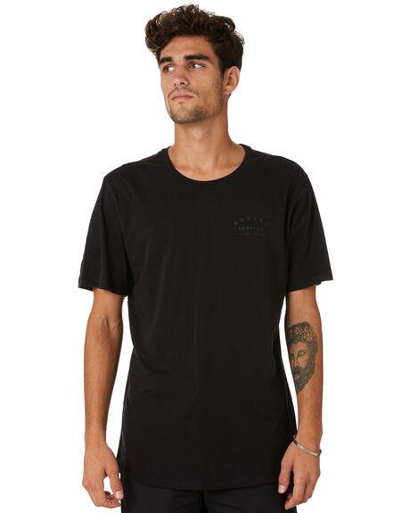 BLACK MENS CLOTHING HURLEY TEES - MTSPPERG010