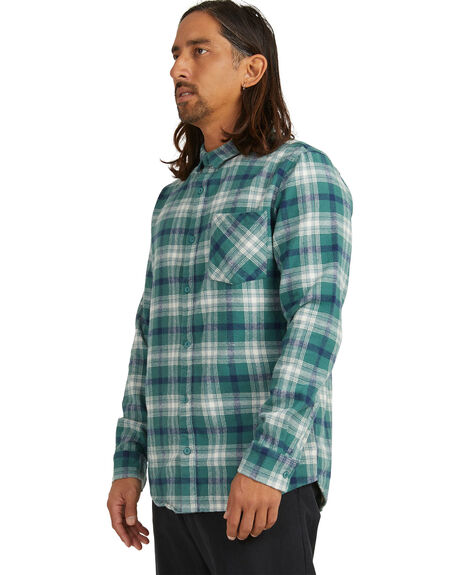 MONTAGE BLUE SPRUCE MENS CLOTHING QUIKSILVER SHIRTS - UQYWT03046-BPL1