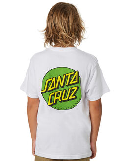 WHITE KIDS BOYS SANTA CRUZ TOPS - SC-YTA9168WHT