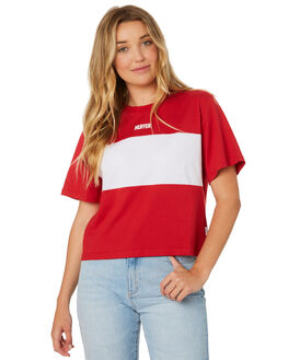 RED WHITE WOMENS CLOTHING HUFFER TEES - WTE84S7330RDWHI