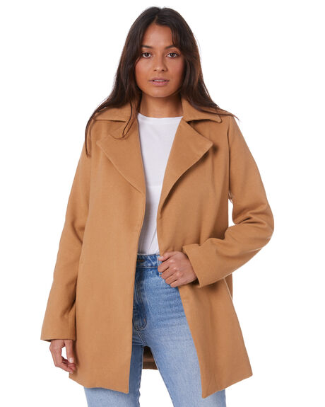CAMEL WOMENS CLOTHING SNDYS JACKETS - SFJ059SCAM