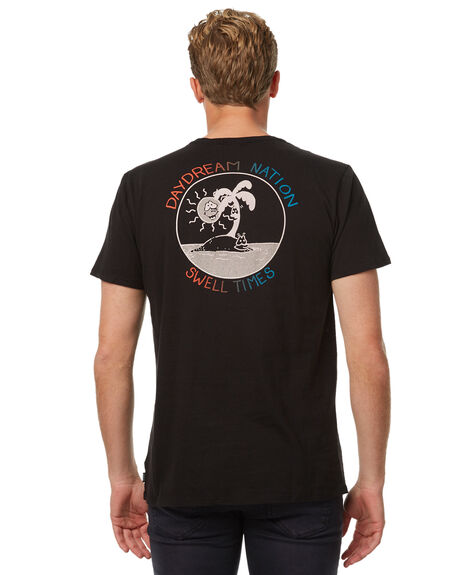 BLACK MENS CLOTHING SWELL TEES - S5174010BLK
