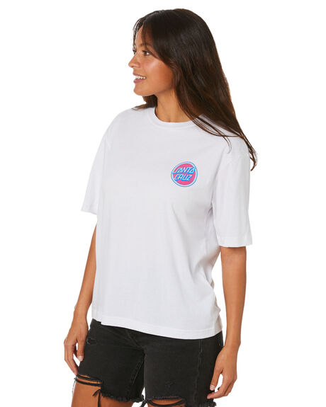 WHITE WOMENS CLOTHING SANTA CRUZ TEES - SC-WTD0287WHT