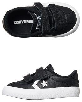 BLACK WHITE KIDS TODDLER BOYS CONVERSE FOOTWEAR - 758203BLK