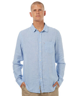 BLUE WHITE MENS CLOTHING ACADEMY BRAND SHIRTS - 18S839BLUEW