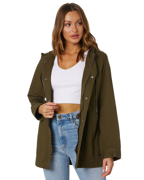 DUSTY OLIVE WOMENS CLOTHING RIP CURL JACKETS - GJKAY93680