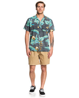 BLACK ANCIENT MYRTLE MENS CLOTHING QUIKSILVER SHIRTS - EQYWT03862-KVJ6