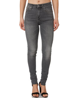 GREY WASH WOMENS CLOTHING NUDIE JEANS CO JEANS - 112906GREY