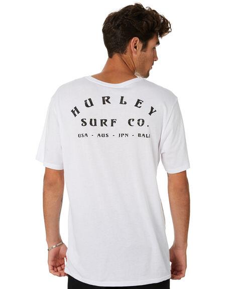 WHITE MENS CLOTHING HURLEY TEES - MTSPPERG100