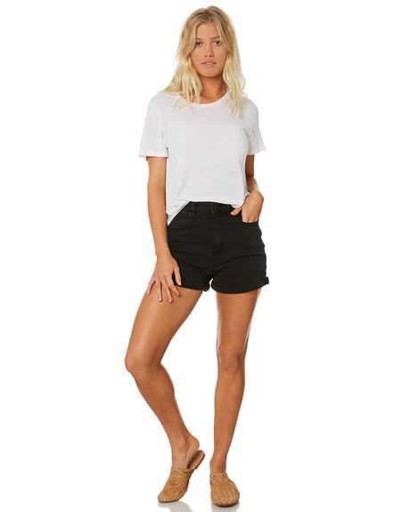 LUNAR BLACK WOMENS CLOTHING LEE SHORTS - L-655547-T79BLK