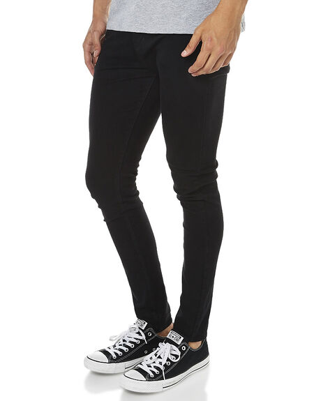 BLACK MENS CLOTHING DR DENIM JEANS - 1330130-101