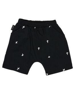 BLACK KIDS BOYS TINY TRIBE SHORTS - TTS19-4003BBLK
