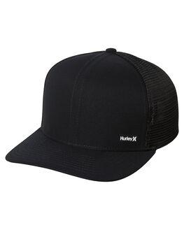 BLACK MENS ACCESSORIES HURLEY HEADWEAR - AH9621010