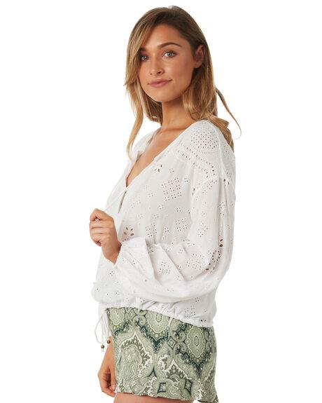 WHITE WOMENS CLOTHING TIGERLILY FASHION TOPS - T382048WHT
