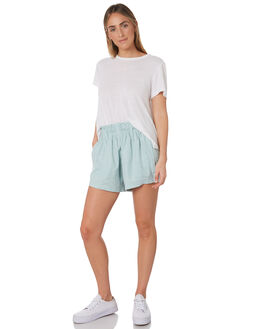 RETRO BLUE WOMENS CLOTHING AFENDS SHORTS - W191351RBL