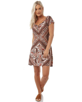 BROWN WOMENS CLOTHING ARNHEM DRESSES - ARMIBR03BRO