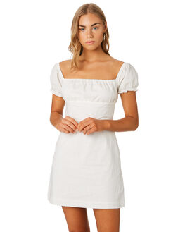 OFF WHITE WOMENS CLOTHING LULU AND ROSE DRESSES - LU23813WHT