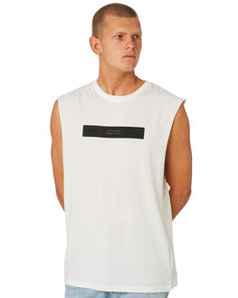 DIRTY WHITE MENS CLOTHING THRILLS SINGLETS - TS8-124ADTWHT