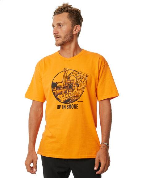 ORANGE MENS CLOTHING BRIXTON TEES - 06841ORNGE