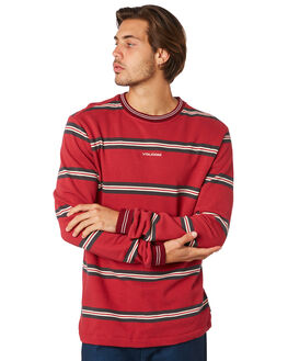 BURGUNDY MENS CLOTHING VOLCOM JUMPERS - A4611901BUR