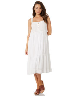 WHITE WOMENS CLOTHING RHYTHM DRESSES - OCT19W-DR09-WHT