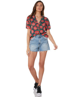 POPPY EYE WOMENS CLOTHING WRANGLER FASHION TOPS - W-951627-MN0POP