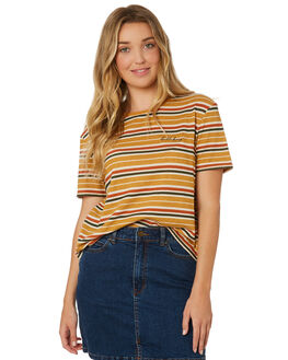 HONEY GOLD WOMENS CLOTHING BILLABONG TEES - 6595136HOG