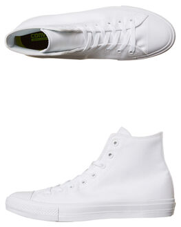 WHITE WHITE WOMENS FOOTWEAR CONVERSE HI TOPS - SS150148WHIW