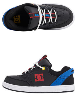 BLACK/BLUE/RED KIDS BOYS DC SHOES SNEAKERS - ADBS100257-XKBR