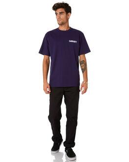 ROYAL VIOLET WHITE MENS CLOTHING CARHARTT TEES - I02480605J