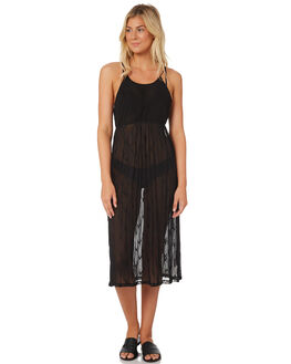 BLACK WOMENS CLOTHING HURLEY DRESSES - AQ4463-010