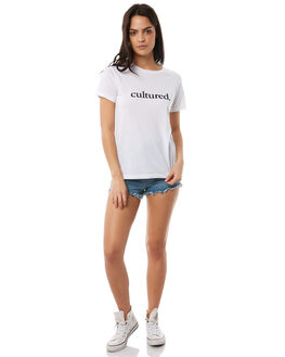 WHITE WOMENS CLOTHING TEE INK TEES - CAW1021WHT