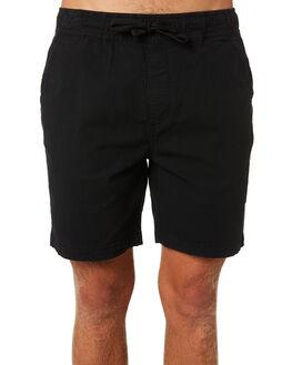 BLACK MENS CLOTHING DEUS EX MACHINA SHORTS - DMP83582BLK