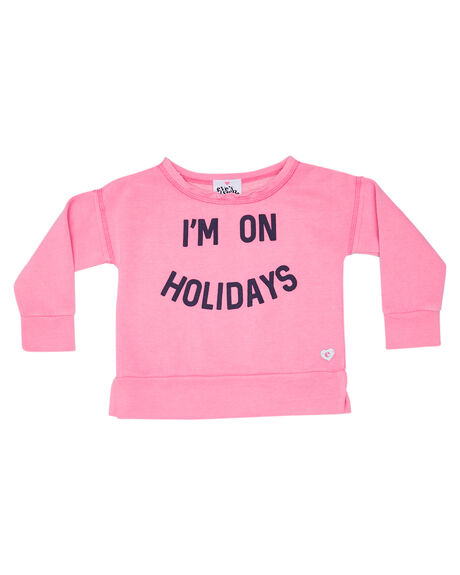 NEON PINK KIDS GIRLS EVES SISTER JUMPERS + JACKETS - 8000009PNK