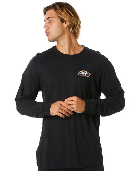 BLACK MENS CLOTHING HURLEY TEES - CQ8557010