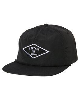 BLACK MENS ACCESSORIES CAPTAIN FIN CO. HEADWEAR - CH183007BLK