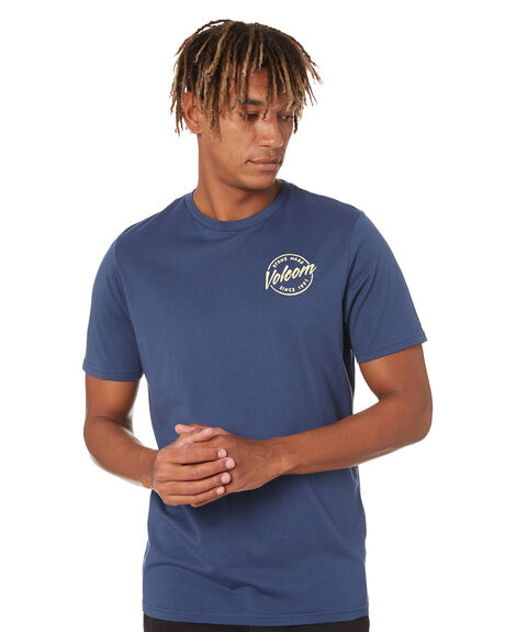 BLUE MENS CLOTHING VOLCOM TEES - A5002008BLU
